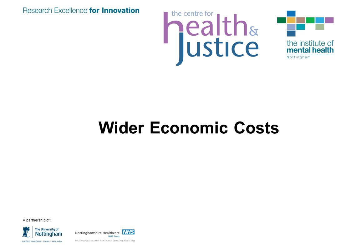 Wider Economic Costs A partnership of: