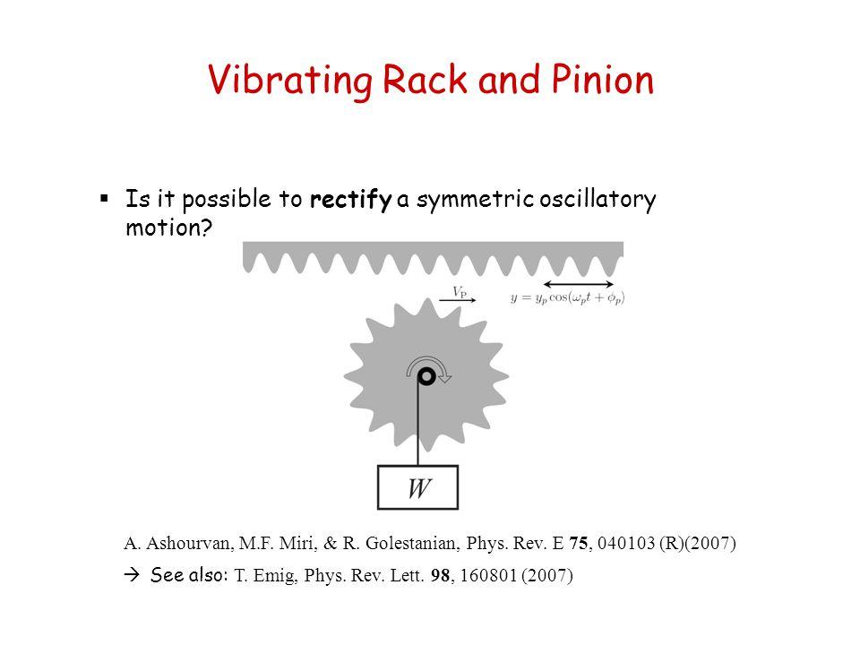 Vibrating Rack and Pinion