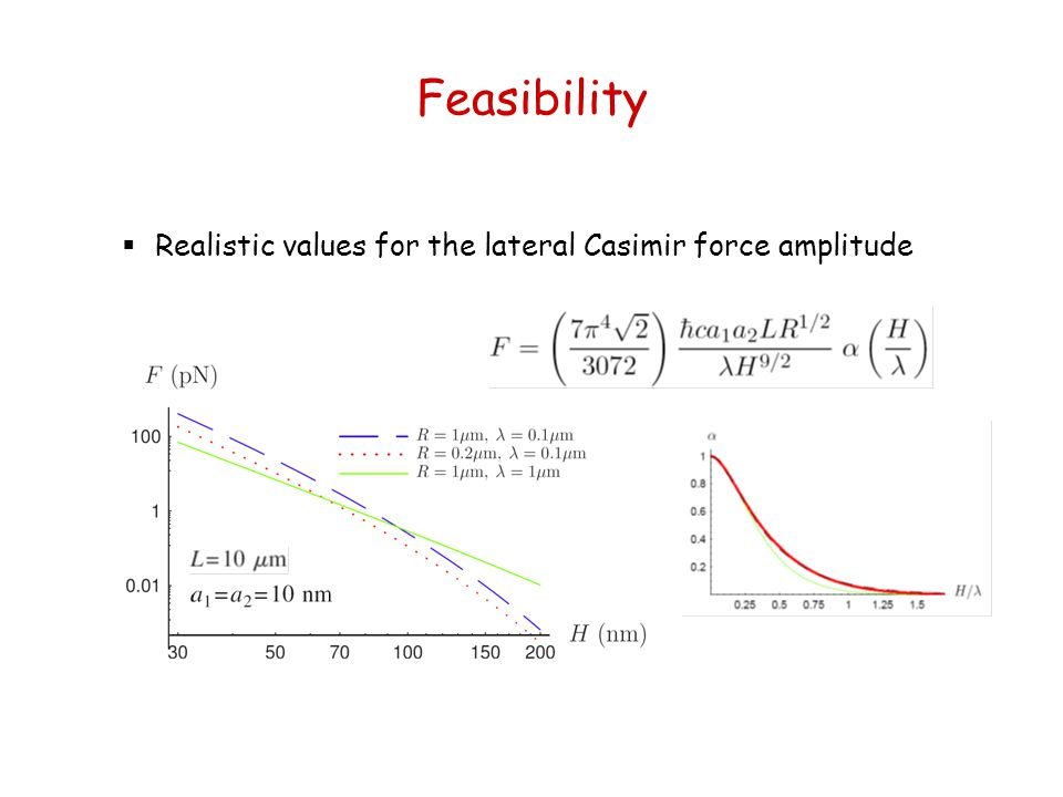 Feasibility Realistic values for the lateral Casimir force amplitude