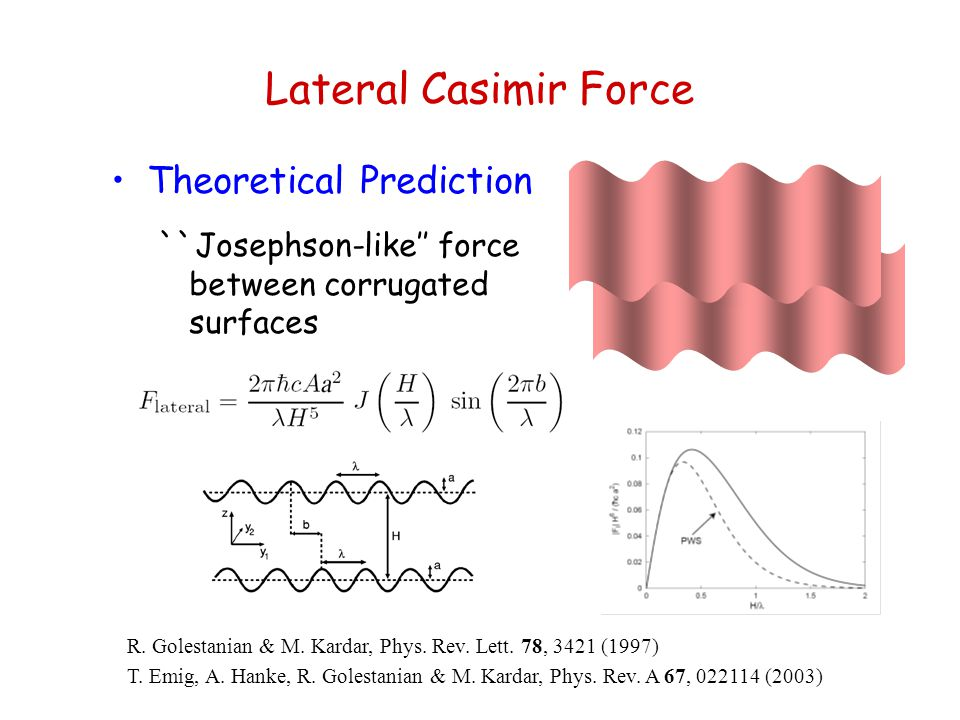 Lateral Casimir Force Theoretical Prediction