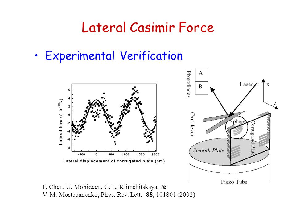 Lateral Casimir Force Experimental Verification
