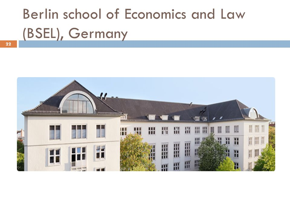 Berlin school of Economics and Law (BSEL), Germany