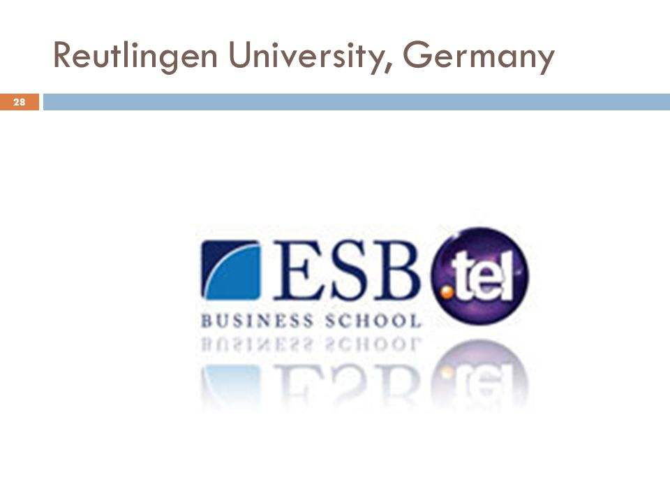 Reutlingen University, Germany