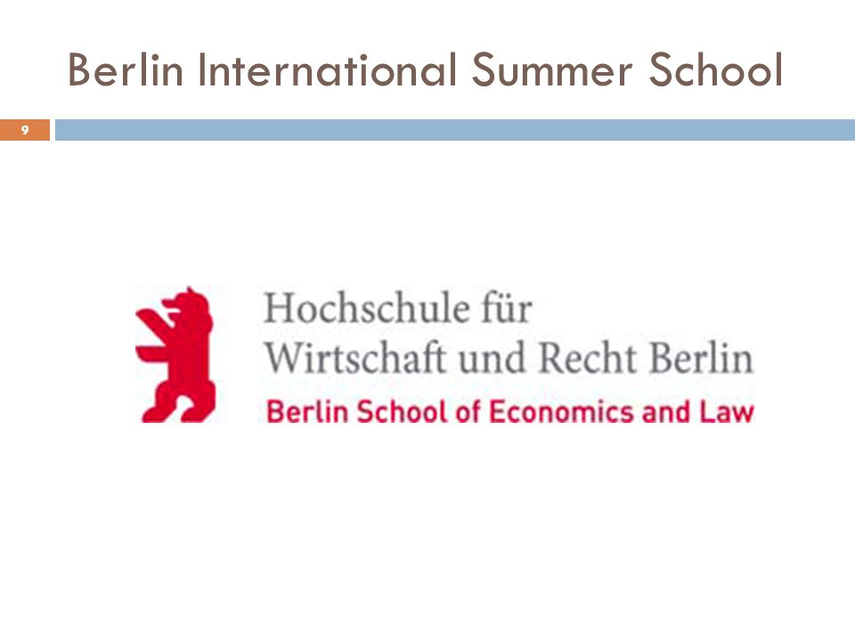 Berlin International Summer School