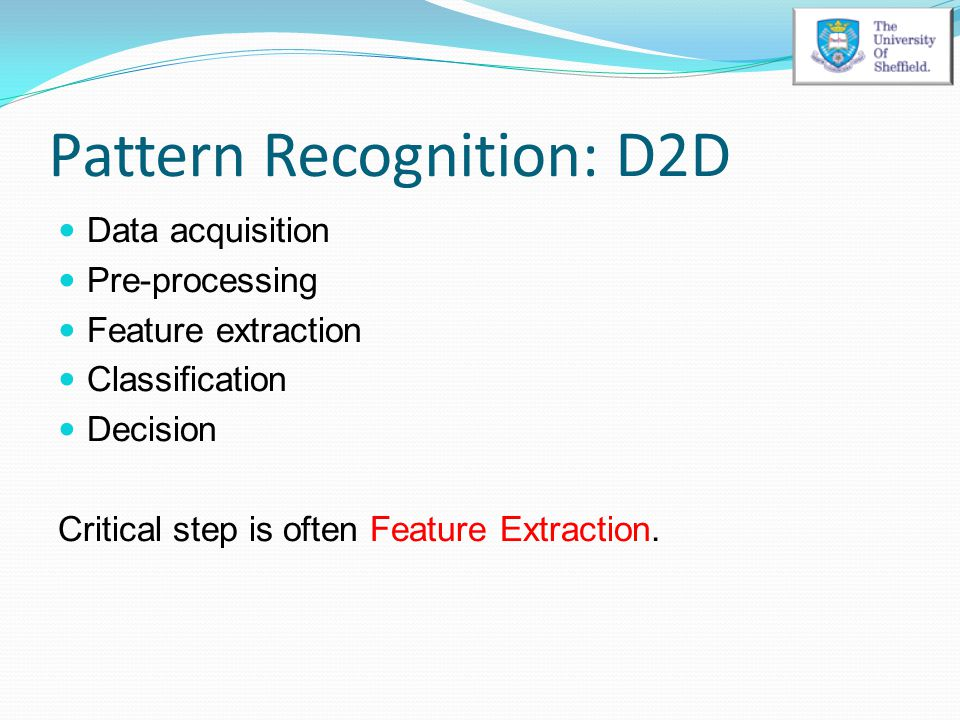 Pattern Recognition: D2D