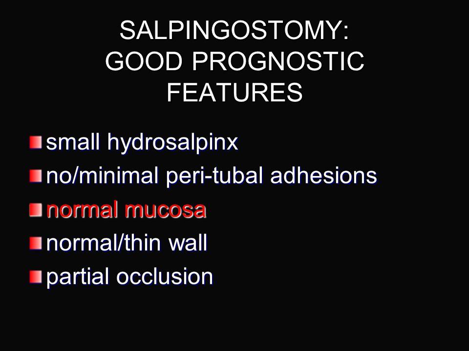 SALPINGOSTOMY: GOOD PROGNOSTIC FEATURES