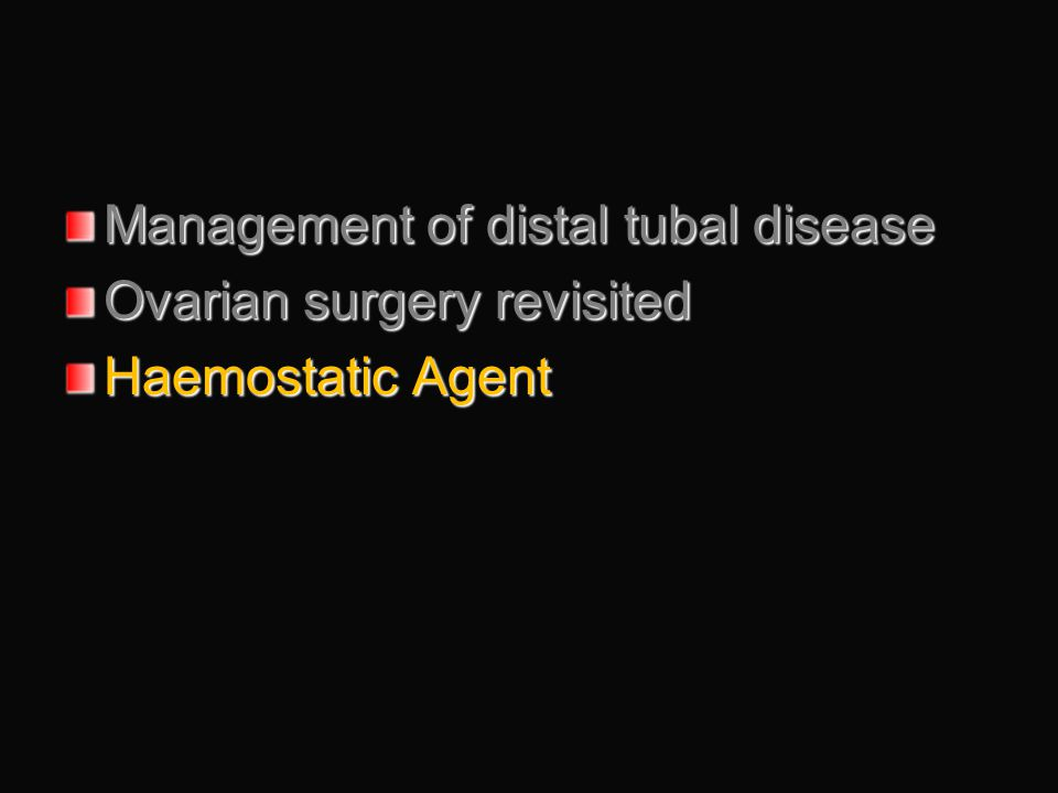 Management of distal tubal disease