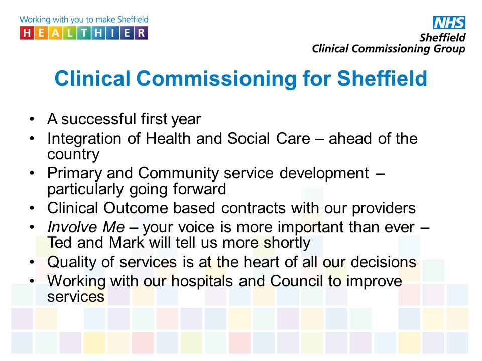 Clinical Commissioning for Sheffield