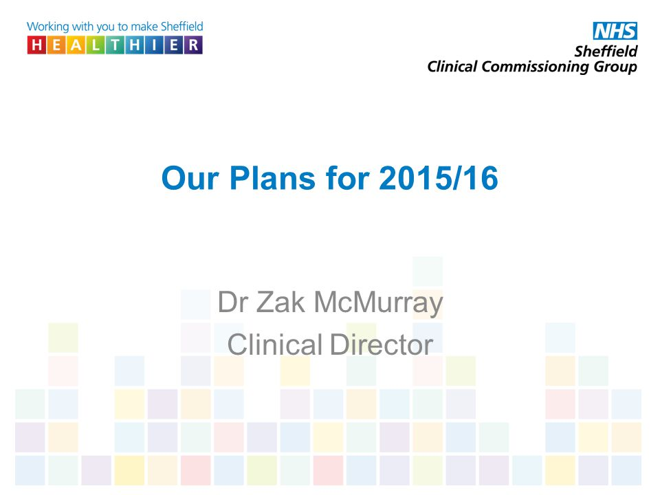 Dr Zak McMurray Clinical Director