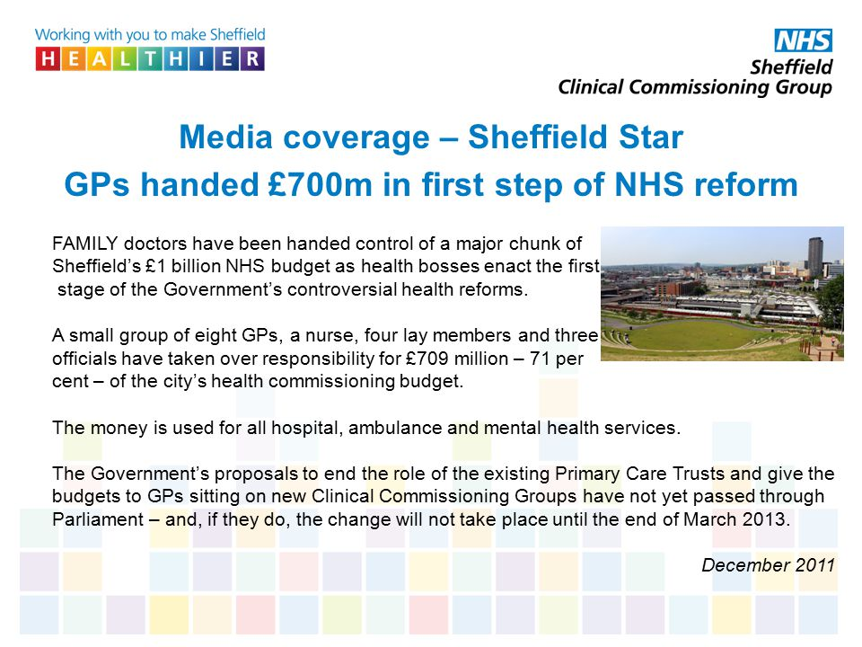 Media coverage – Sheffield Star GPs handed £700m in first step of NHS reform