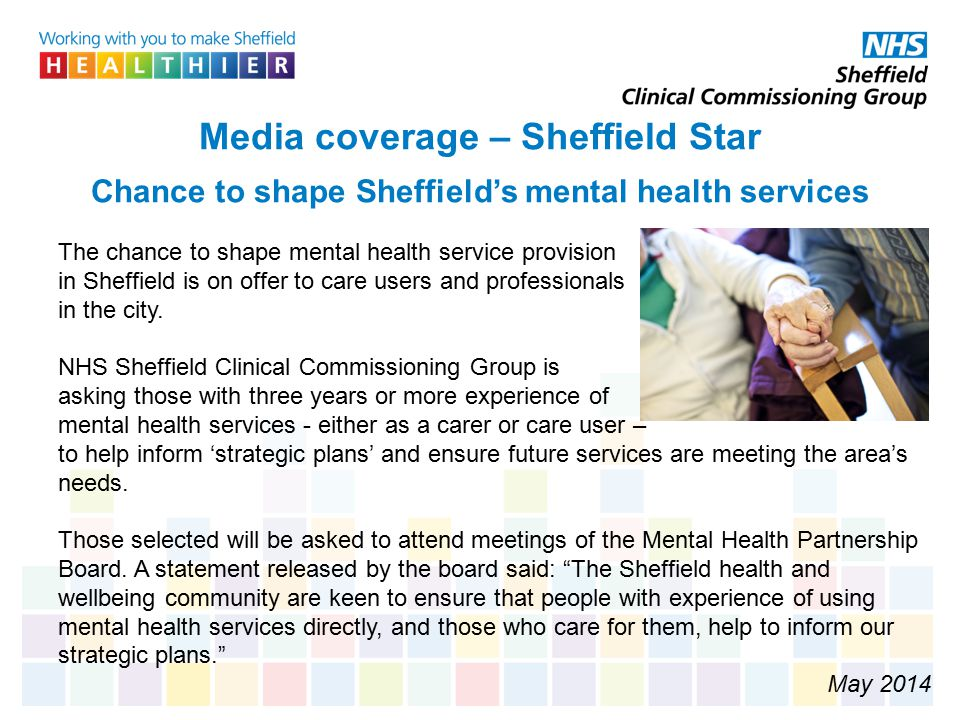 Media coverage – Sheffield Star Chance to shape Sheffield's mental health services