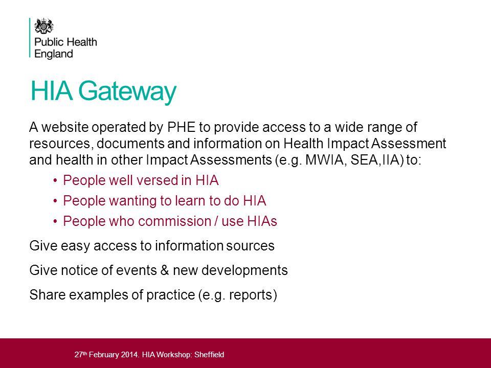 HIA Gateway
