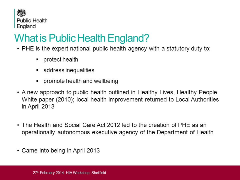 What is Public Health England
