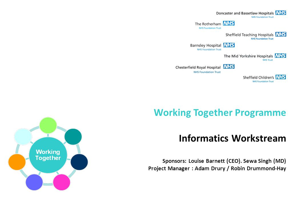 Working Together Programme Informatics Workstream Sponsors: Louise Barnett (CEO).