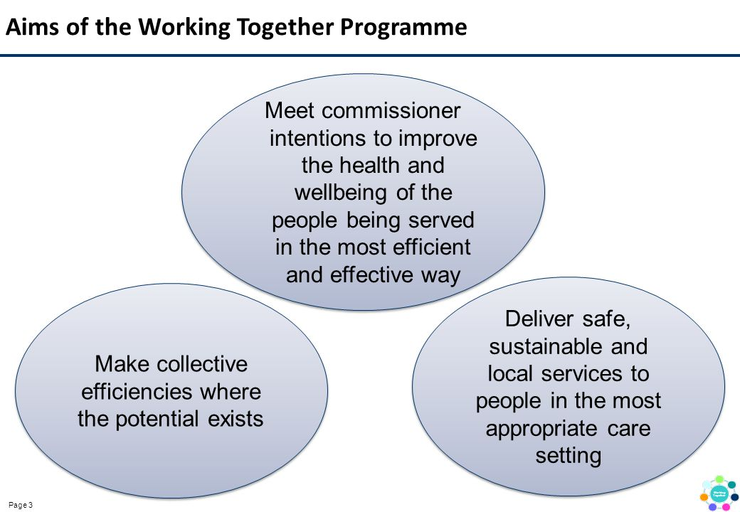 Aims of the Working Together Programme