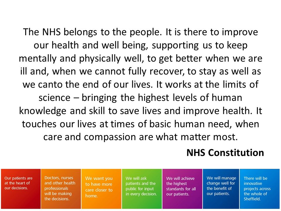 The NHS belongs to the people