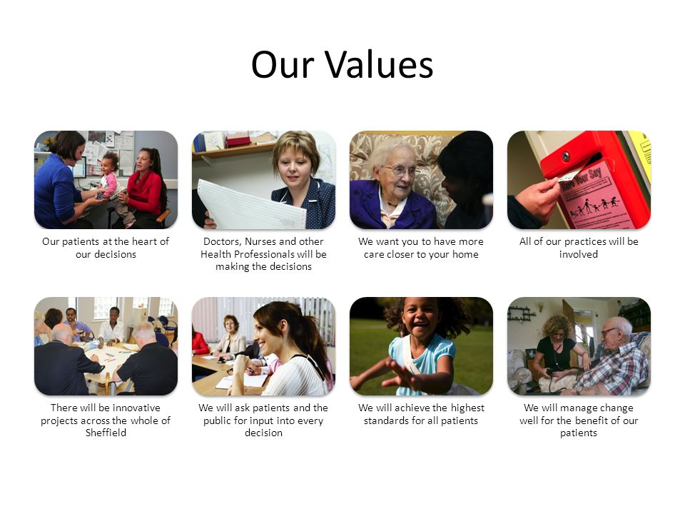 Our Values Our patients at the heart of our decisions
