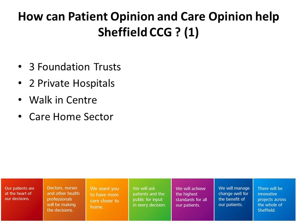 How can Patient Opinion and Care Opinion help Sheffield CCG (1)