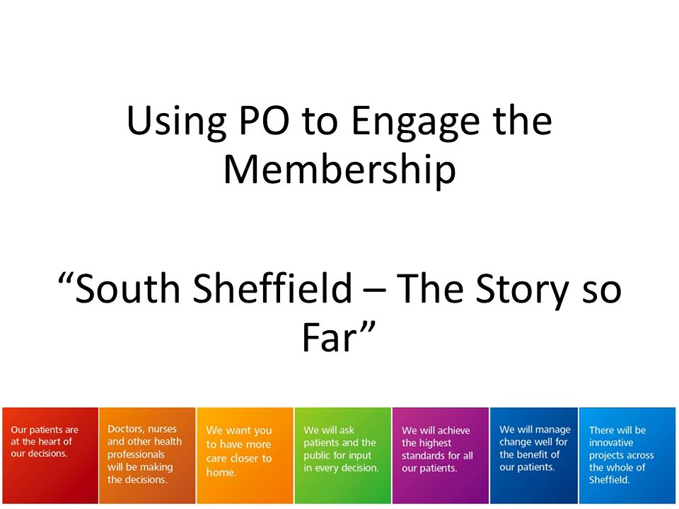 Using PO to Engage the Membership