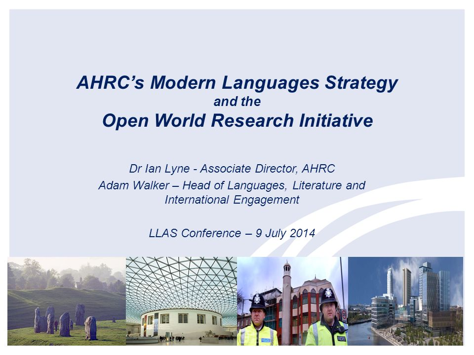 Dr Ian Lyne - Associate Director, AHRC