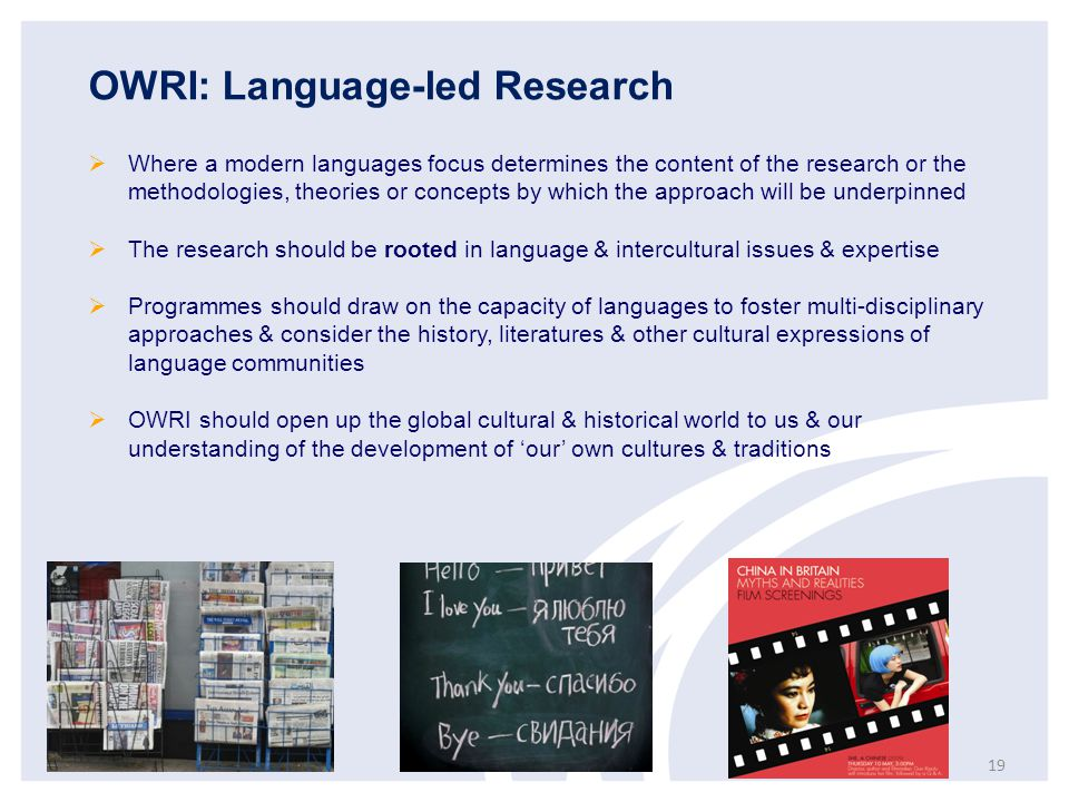 OWRI: Language-led Research