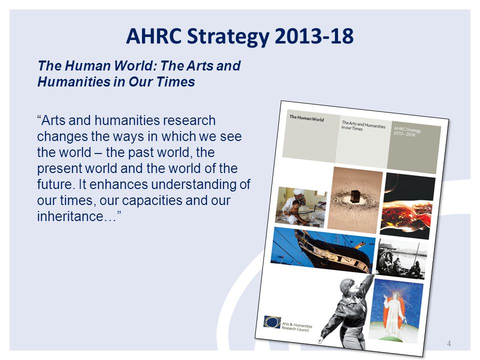 AHRC Strategy 2013-18 The Human World: The Arts and Humanities in Our Times.