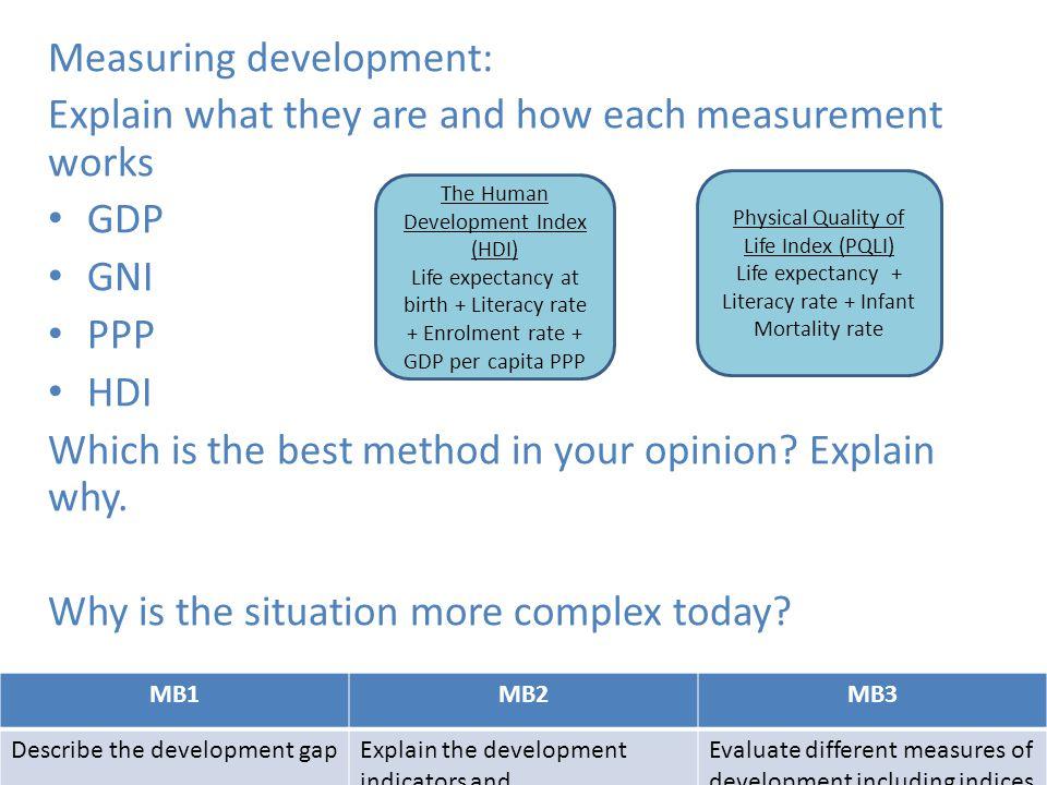 Measuring development:
