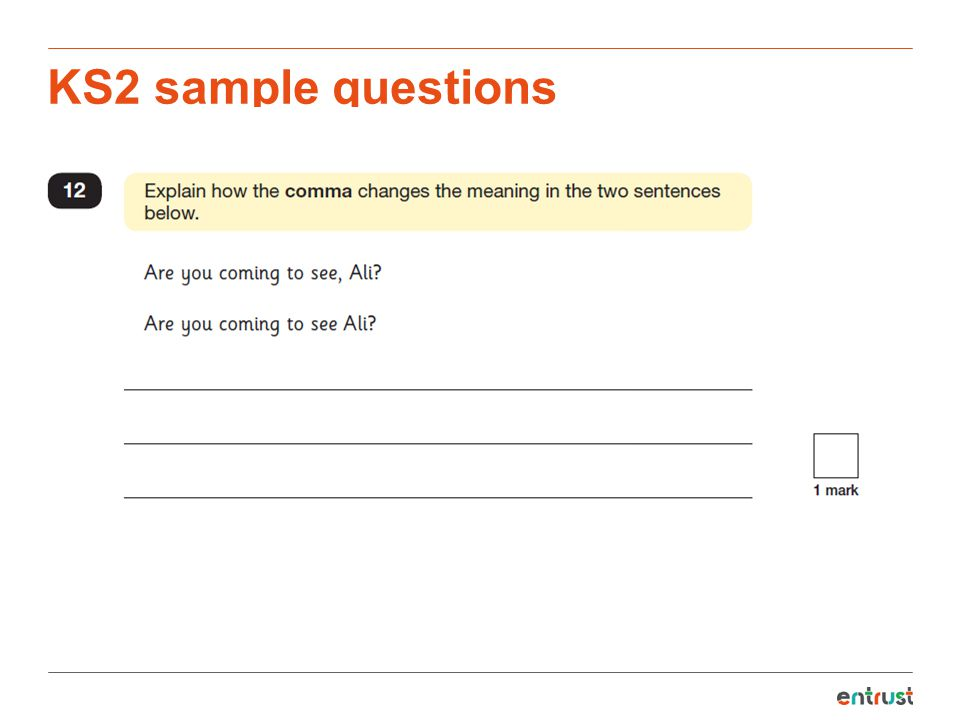 KS2 sample questions