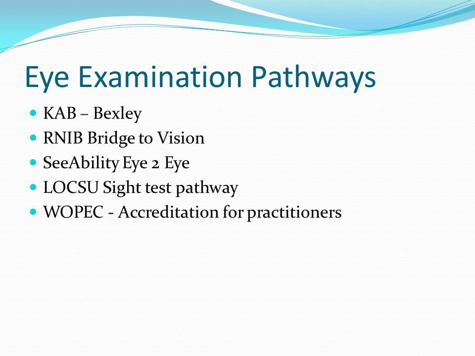 Eye Examination Pathways