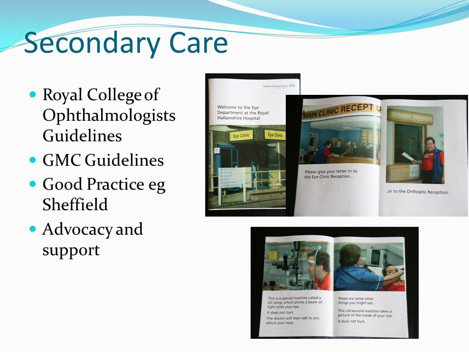 Secondary Care Royal College of Ophthalmologists Guidelines