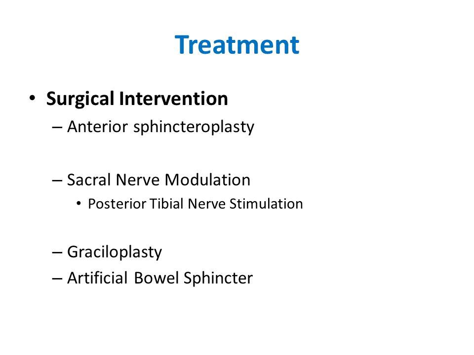 Treatment Surgical Intervention Anterior sphincteroplasty