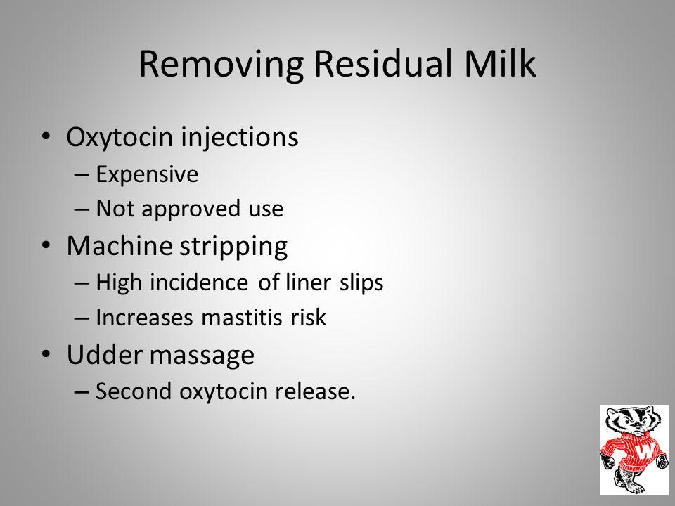 Removing Residual Milk