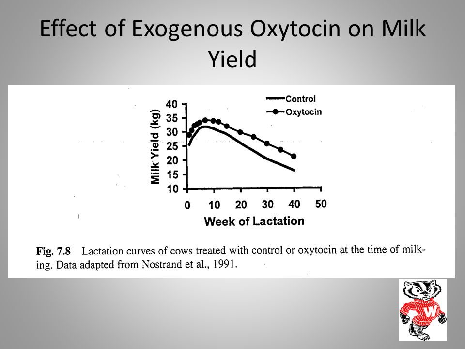 Effect of Exogenous Oxytocin on Milk Yield