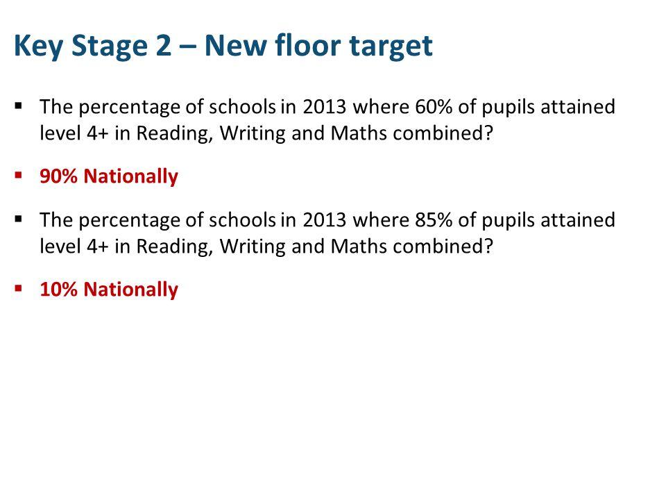 Key Stage 2 – New floor target