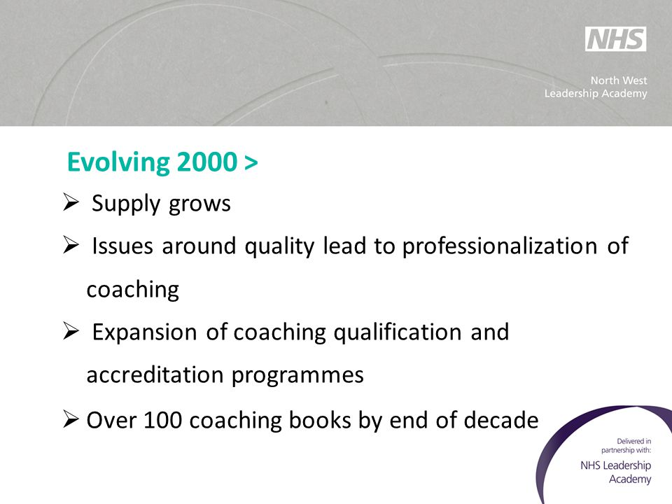 Issues around quality lead to professionalization of coaching