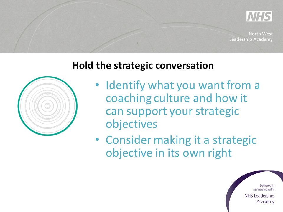 Hold the strategic conversation
