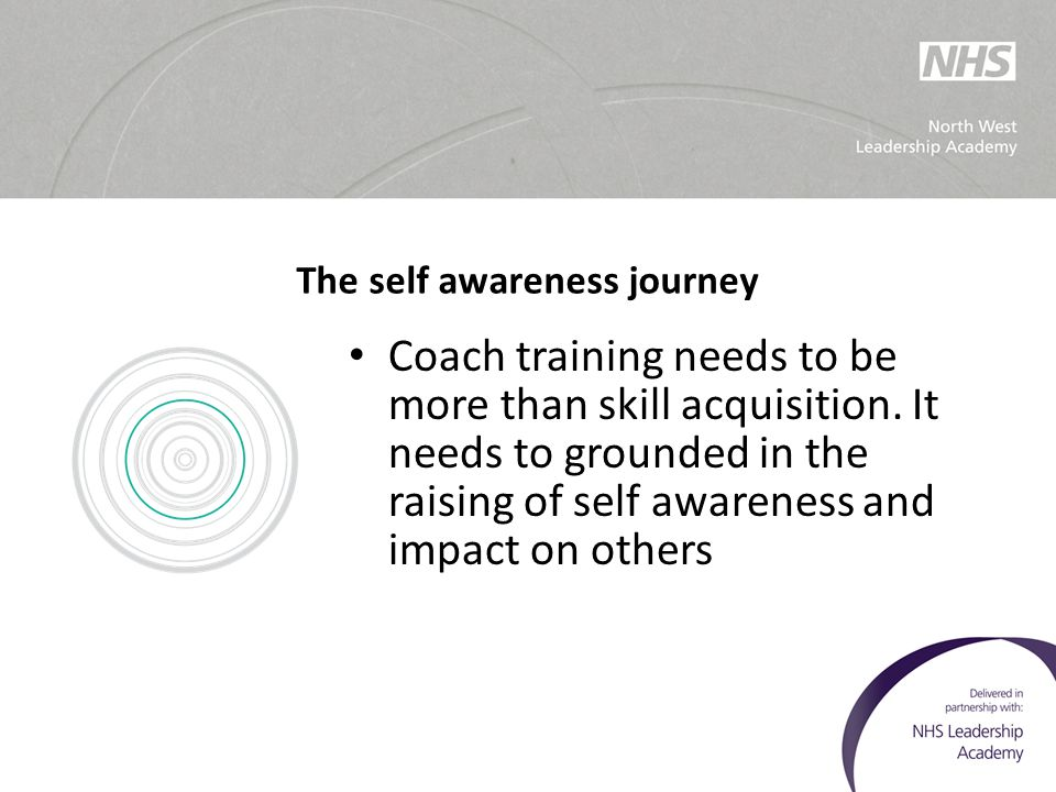 The self awareness journey