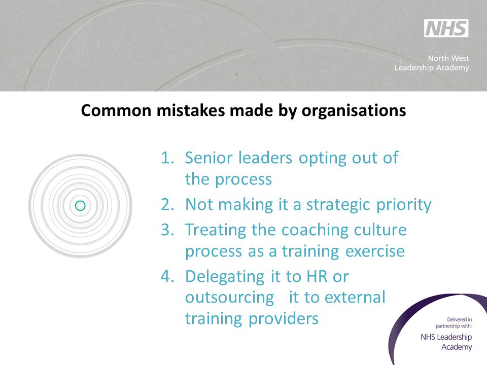 Common mistakes made by organisations