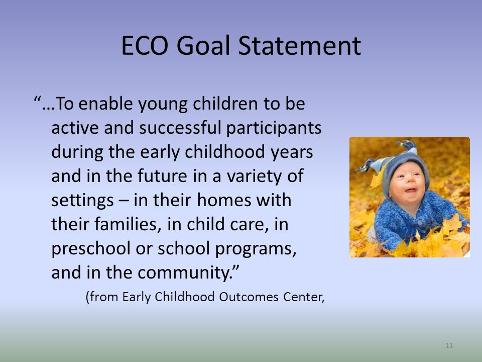ECO Goal Statement