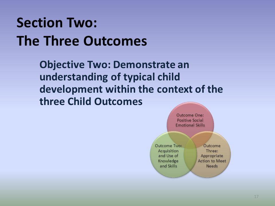 Section Two: The Three Outcomes