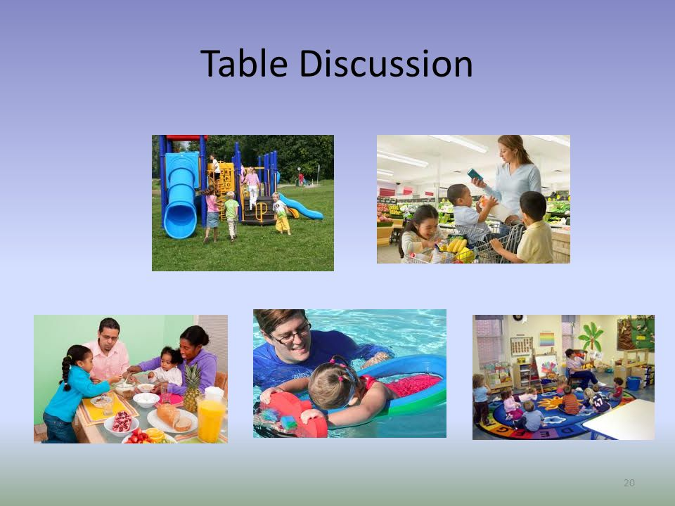 Table Discussion Elizabeth Directions for participants: