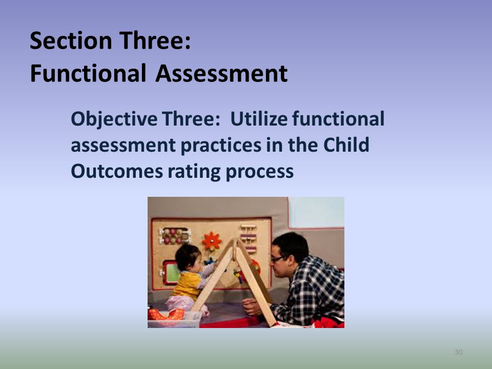 Section Three: Functional Assessment