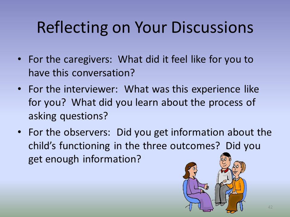 Reflecting on Your Discussions