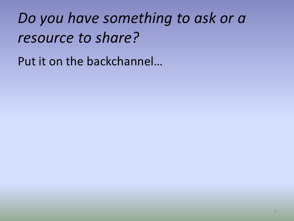 Do you have something to ask or a resource to share