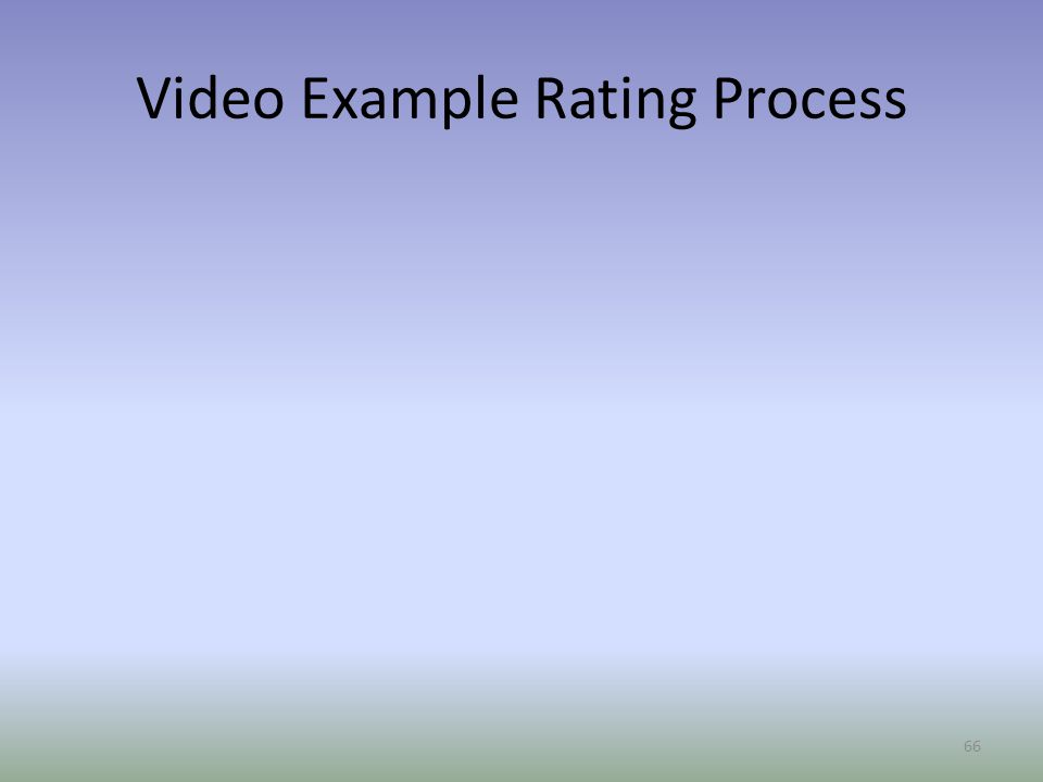 Video Example Rating Process