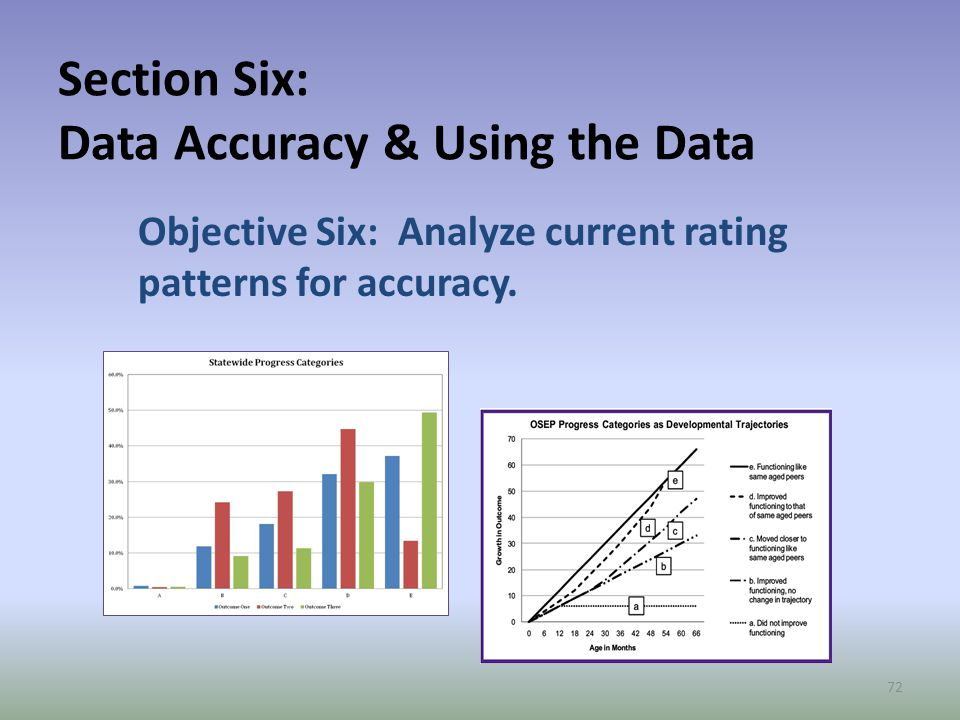 Section Six: Data Accuracy & Using the Data