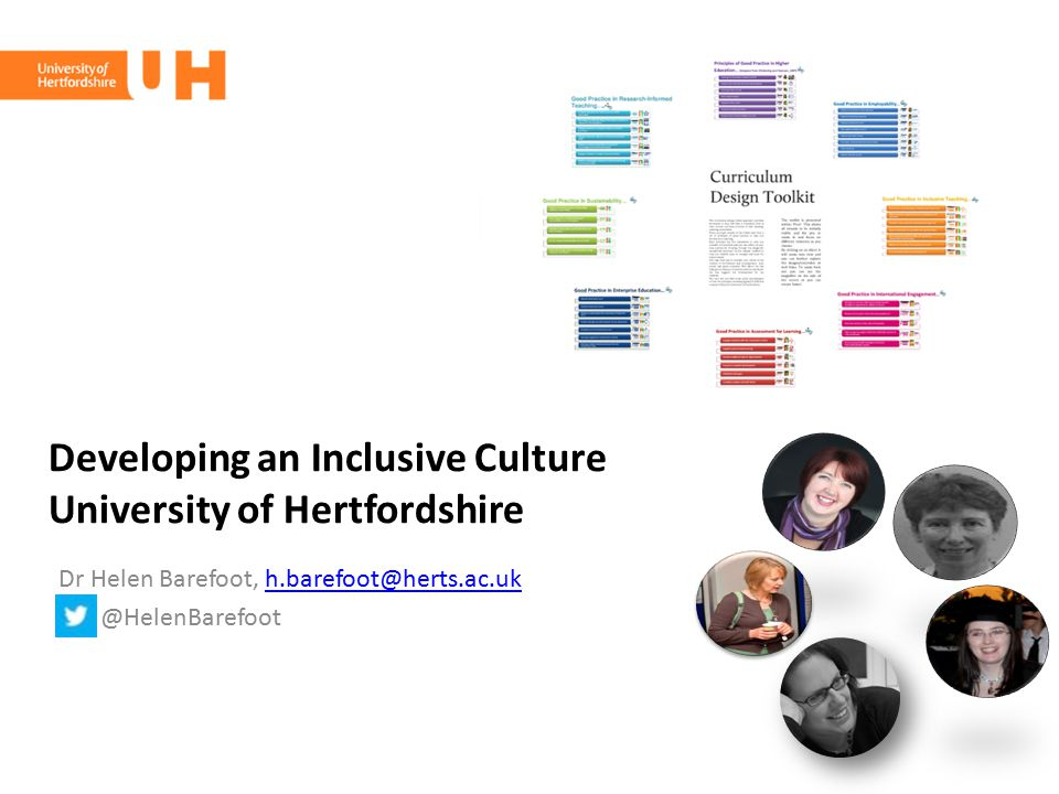 Developing an Inclusive Culture University of Hertfordshire