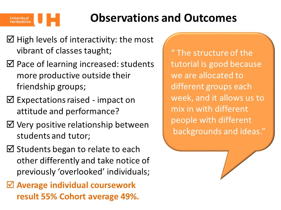 Observations and Outcomes