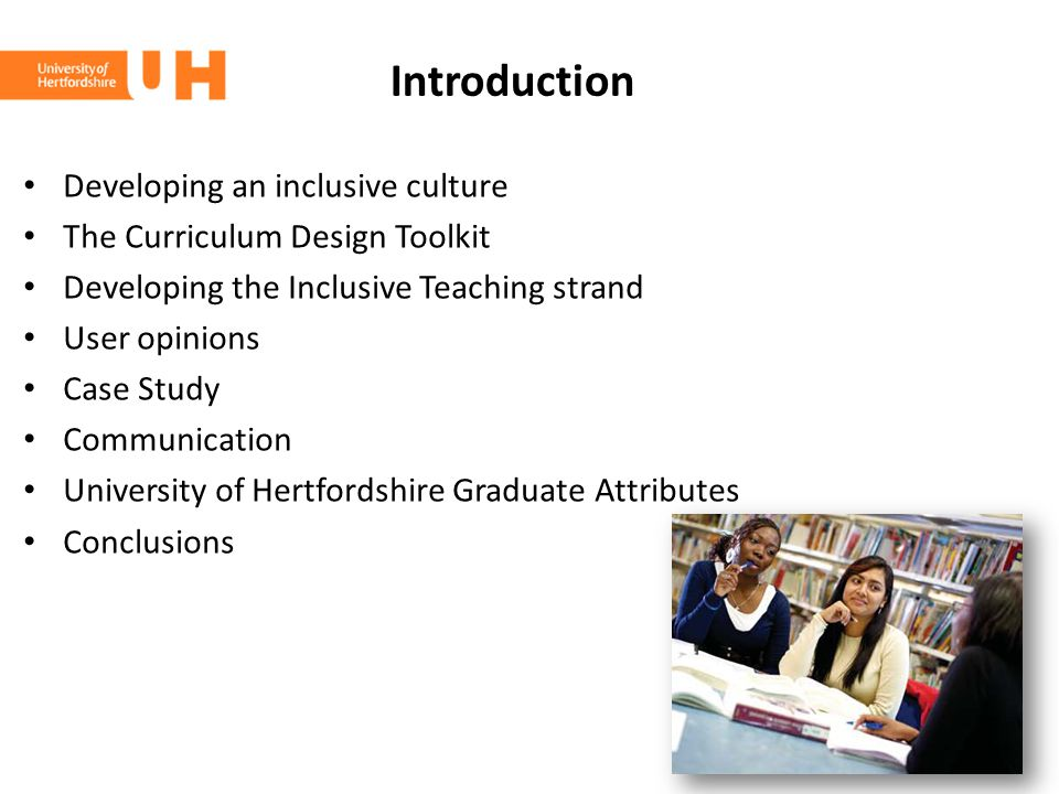 Introduction Developing an inclusive culture