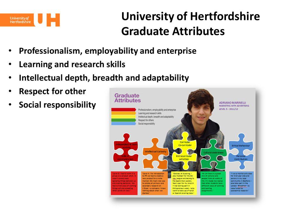 University of Hertfordshire Graduate Attributes